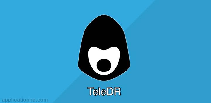 دانلود TeleDR - اپلیکیشن تلگرام دی آر برای اندروید