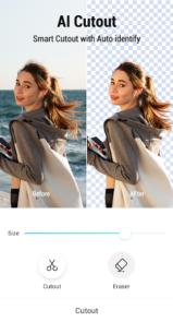 دانلود PickU - Cutout & Photo Editor - اپلیکیشن ویرایش و برش عکس اندروید
