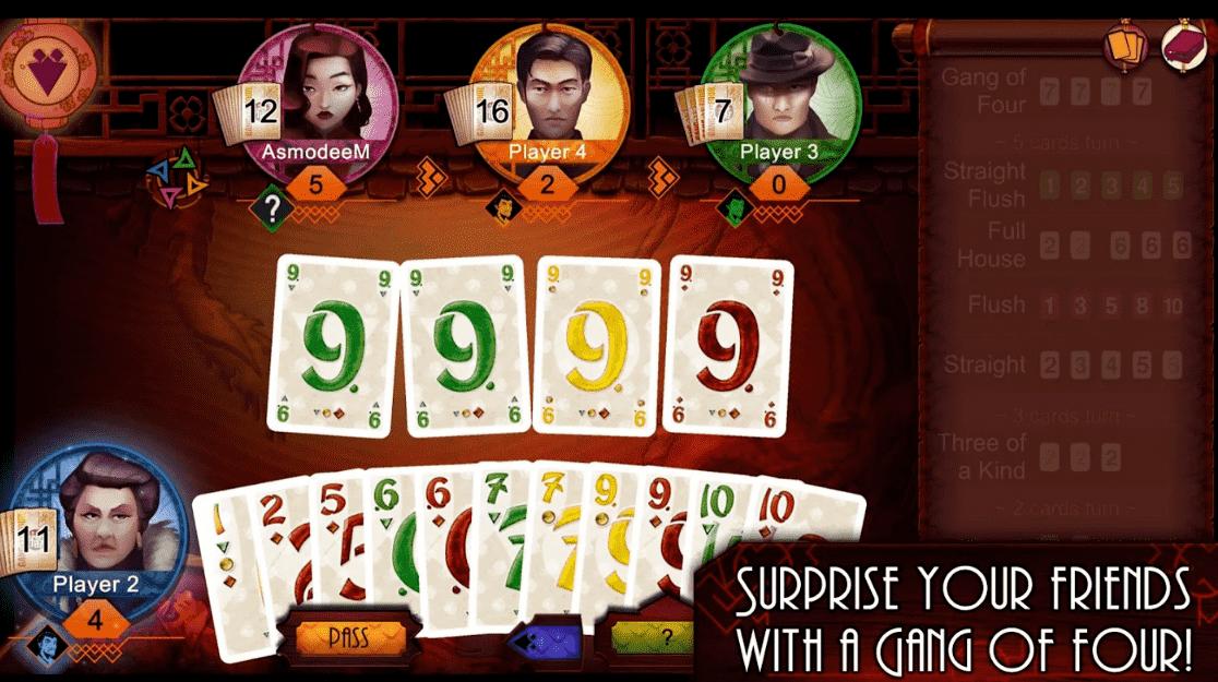 دانلود Gang of Four – بازی کارتی گنگ چهار نفره برای اندروید