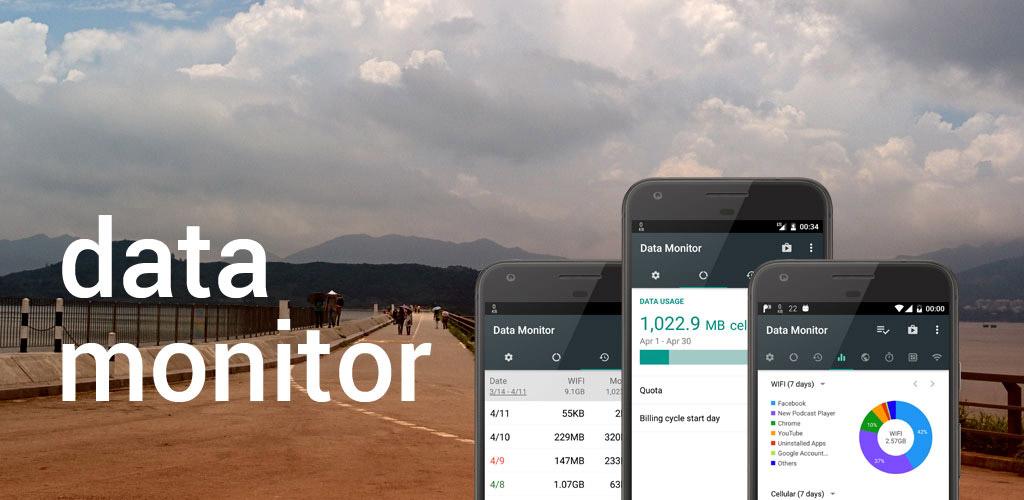 دانلود Data Monitor: Simple Net Meter 1.0.188 - اپلیکیشن مانیتورینگ اینترنت اندروید