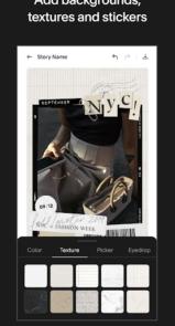 دانلود Unfold — Create Stories Pro - اپلیکیشن ساخت استوری اندروید