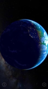 3D Earth & Real Moon. Live Wallpaper.-12