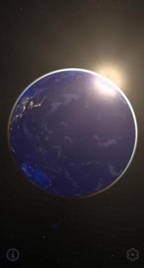 3D Earth & Real Moon. Live Wallpaper.-3