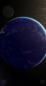 3D Earth & Real Moon. Live Wallpaper.-4