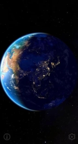3D Earth & Real Moon. Live Wallpaper.-9