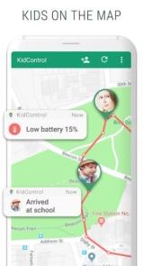 Family GPS tracker KidsControl-5