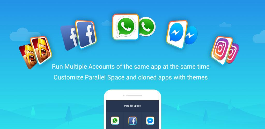 Parallel Space - Multiple accounts & Two face-Cover