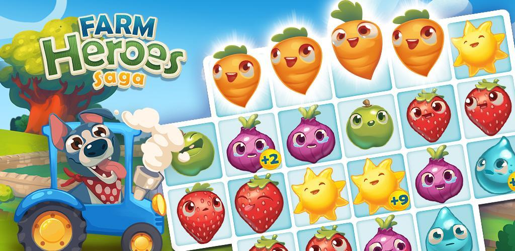 دانلود Farm Heroes Saga – بازی قهرمانان مزرعه اندروید + مود