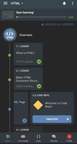 دانلود Sololearn: Learn to Code for Free premium - اپلیکیشن آموزش رایگان برنامه نویسی در اندروید