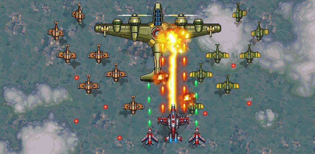 """دانلود A 1945 Air Force mod - بازی آرکید """"نیروی هوایی 1945"""" اندروید + مود"""