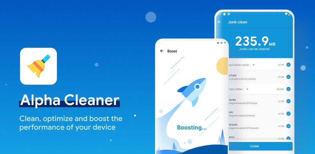 دانلود Alpha Cleaner - Booster, Phone Cleaner premium - برنامه بهینه ساز آلفا کلینر اندروید